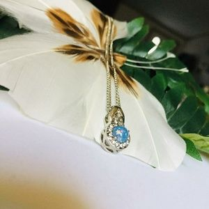 Jewelry - Gorgeous Blue Opal Pendant Necklace
